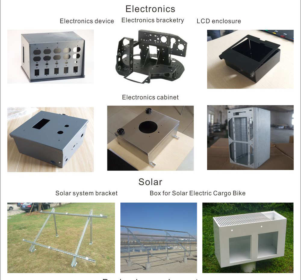 Custom sheet metal parts aluminum power supply enclosure