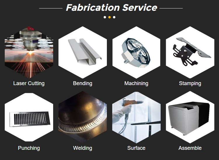 OEM Factory laser cutting metal welding fabrication with powder coating