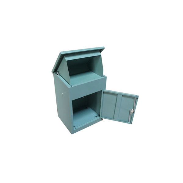 mailbox outdoor modern door metal new bronze package mail box