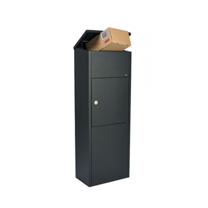 lockedd parcel size mailbox with post residential big mail drop box at porch